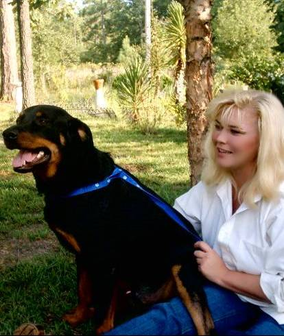 "Me and ""Ozzie"" – my rescue rottie."