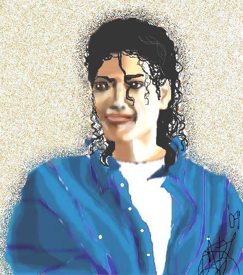 Michael Jackson, King of Pop -- Mouse Art by CarolAnnB